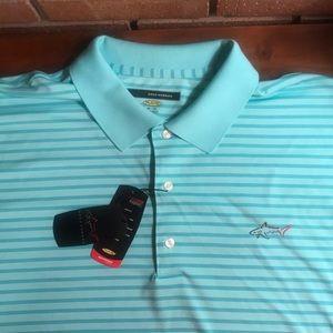 Greg Norman play dry polo shirt NWT